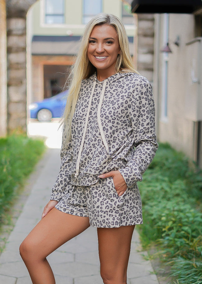 Serena Hooded Leopard Set