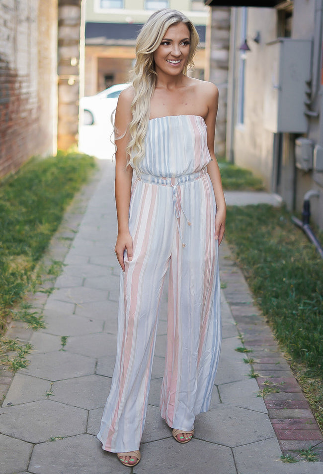 Sunset Striped Jumpsuit