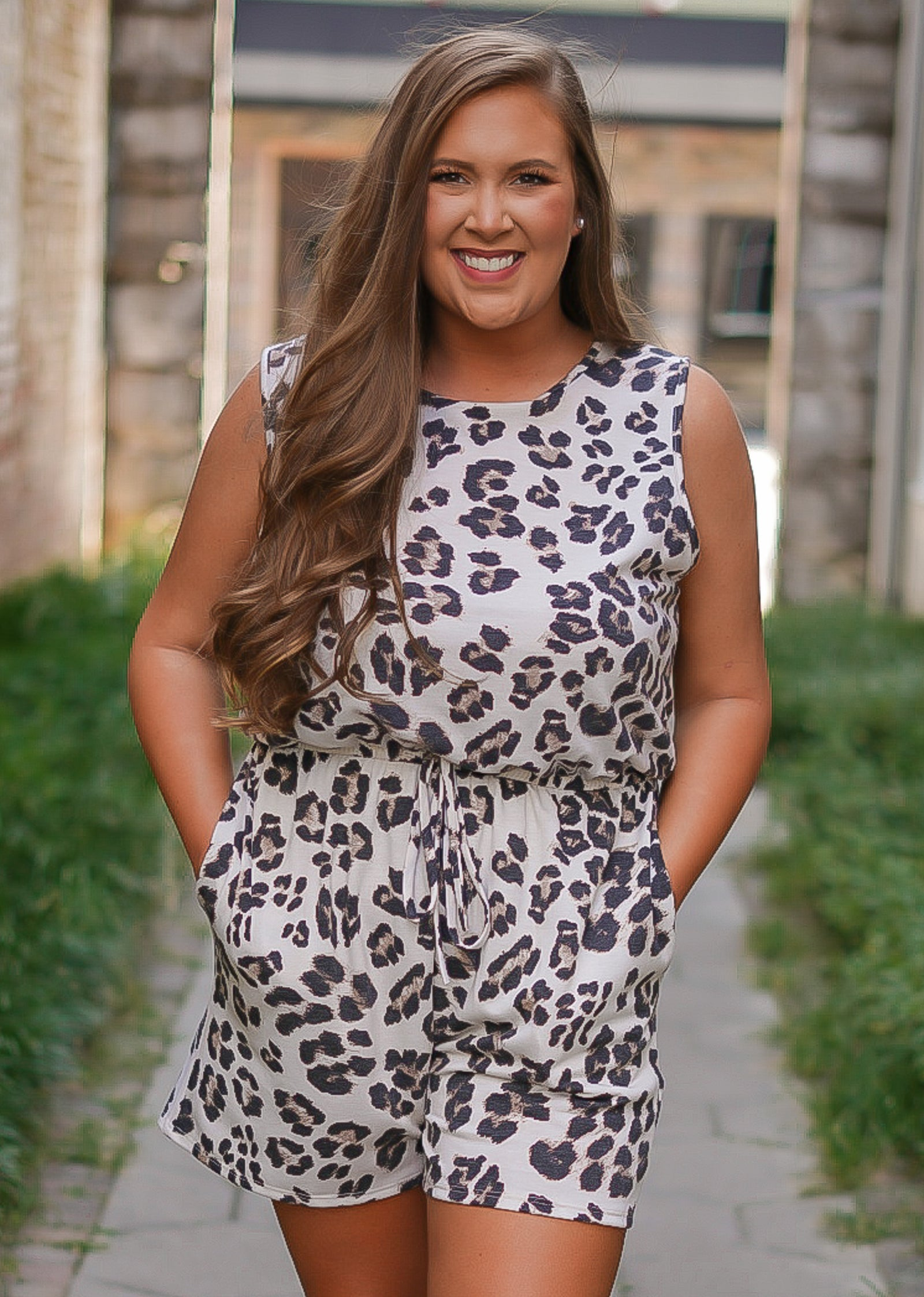 Lovely Lady Leopard Romper - Curvy