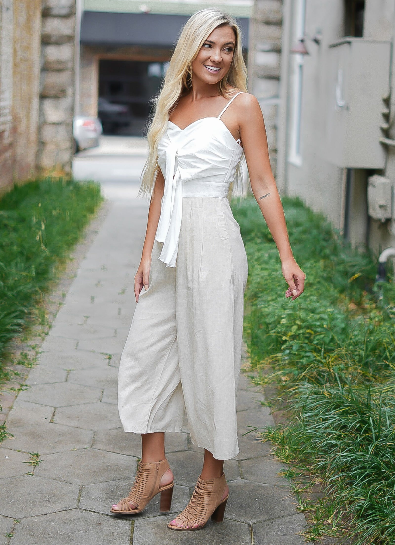All Tied Up Linen Jumpsuit
