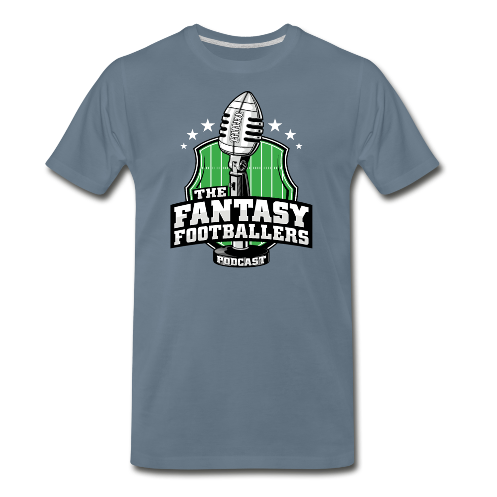 Footballers Tee - steel blue