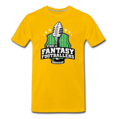 Footballers Tee - sun yellow