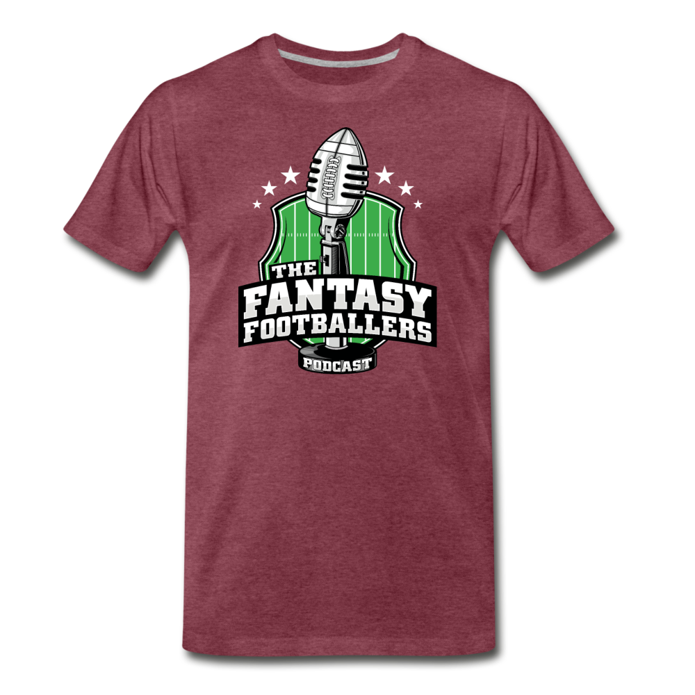 Footballers Tee - heather burgundy