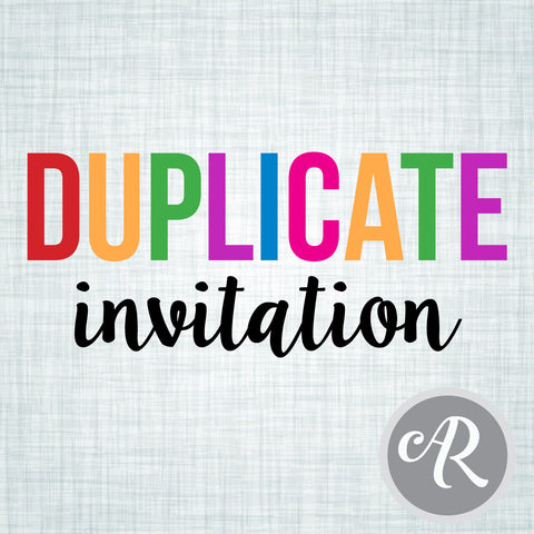 Add-on Duplicate Invitation - AbbyReese Design