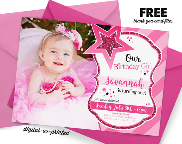 Doll Birthday Invitation - AbbyReese Design