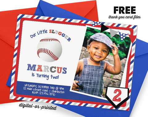 Baseball Birthday Invitation, baseball party invitation, sports birthday, party invitation printable