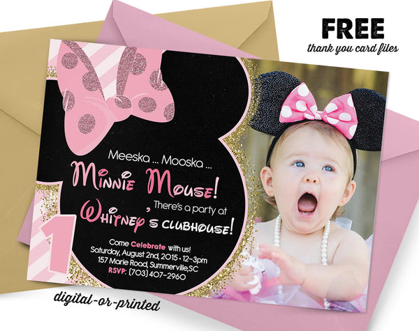 Minnie Birthday Invitation - AbbyReese Design