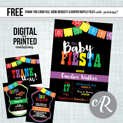 Fiesta Baby Shower Invitation - AbbyReese Design