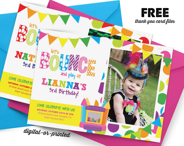 Bounce House Birthday Party Package - AbbyReese Design