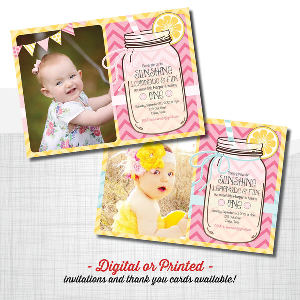 Lemonade Birthday Invitation - AbbyReese Design