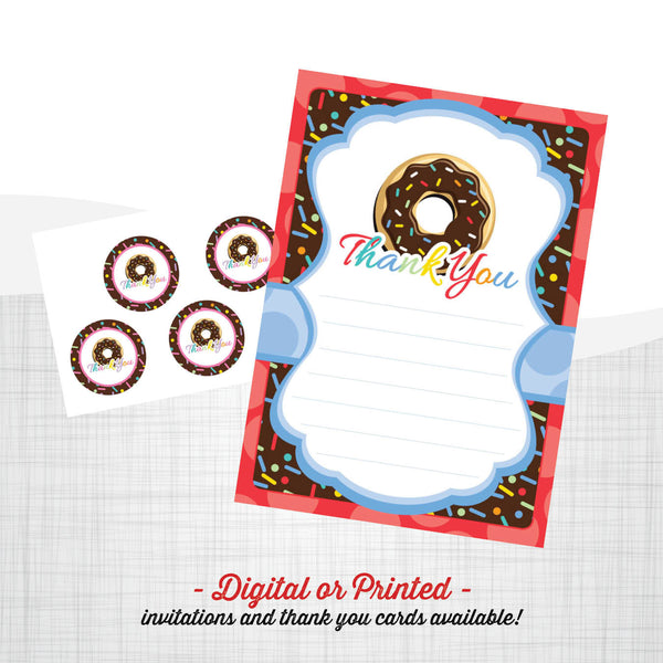 Donut Birthday Invitation - AbbyReese Design