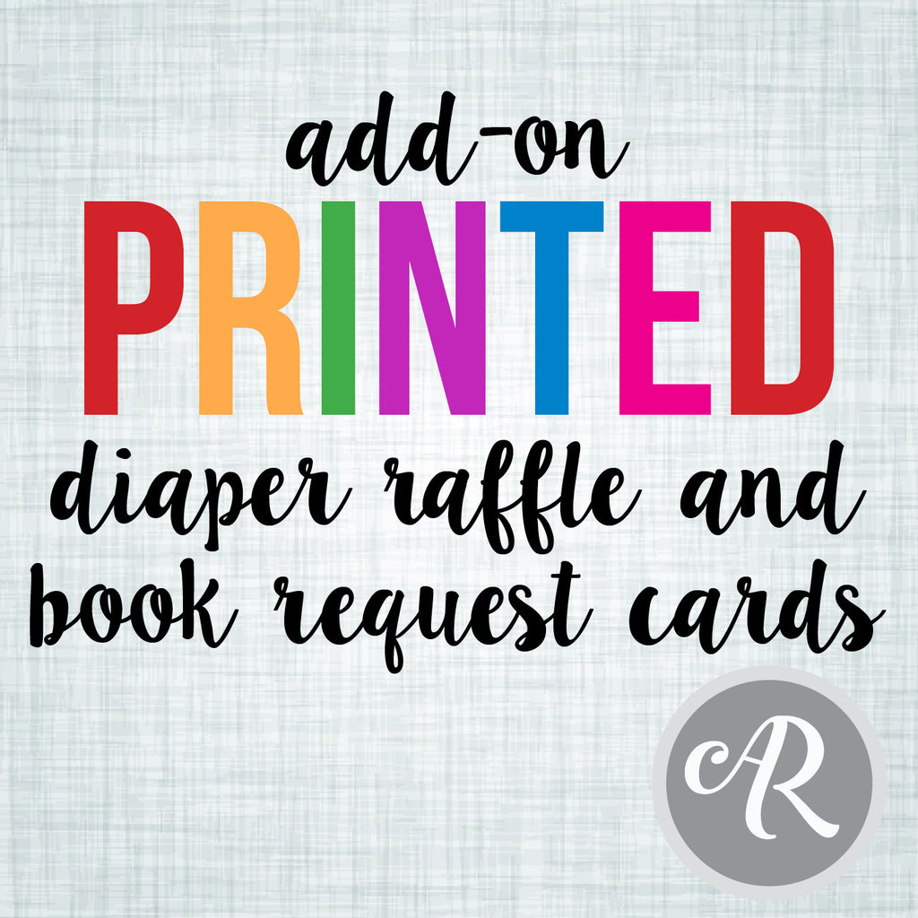 PRINT my book request and/or diaper raffle cards! - AbbyReese Design