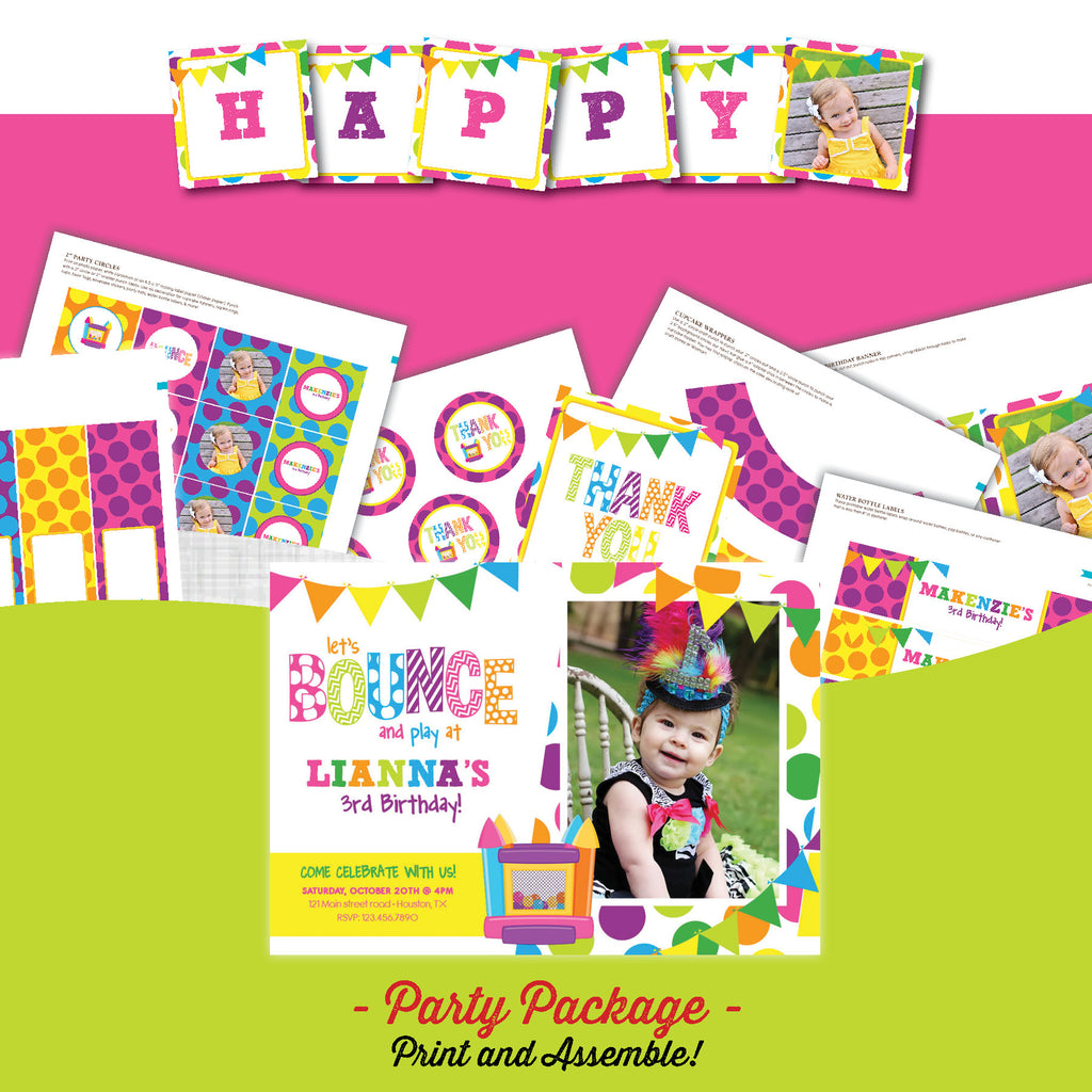 Bounce House Birthday Party Package – AbbyReese Design