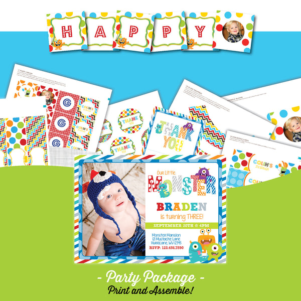 Monster Birthday Party Package - AbbyReese Design