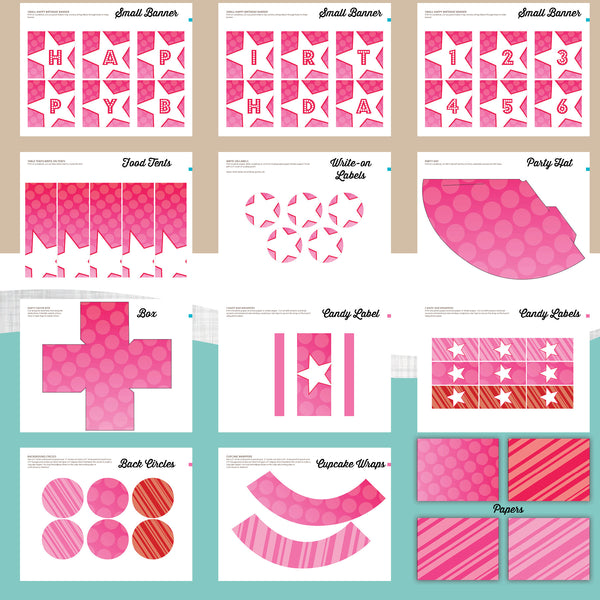 Doll Birthday Party Package - AbbyReese Design