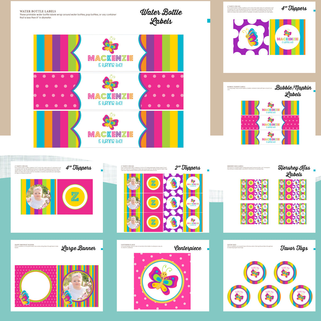Butterfly Birthday Party Package – AbbyReese Design