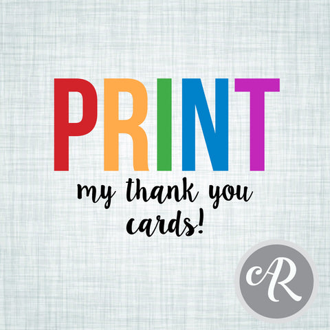 PRINT my THANK YOU cards - AbbyReese Design