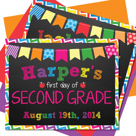 First day of Second Grade Sign, Last day of Second Grade Sign, Milestone Sign, Back to School Sign, Last day of School Poster, First day of School Poster.