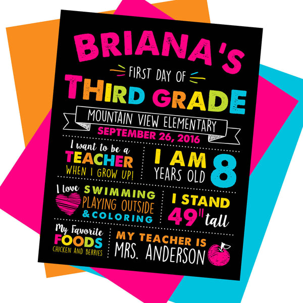 First day of School Sign - AbbyReese Design