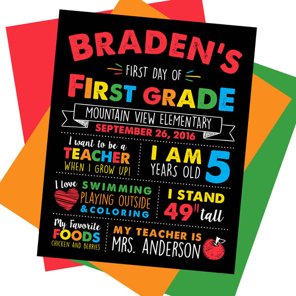 First day of School Sign, Last day of School Sign, Milestone Sign, Back to School Sign, Last day of School Poster, First day of School Poster.