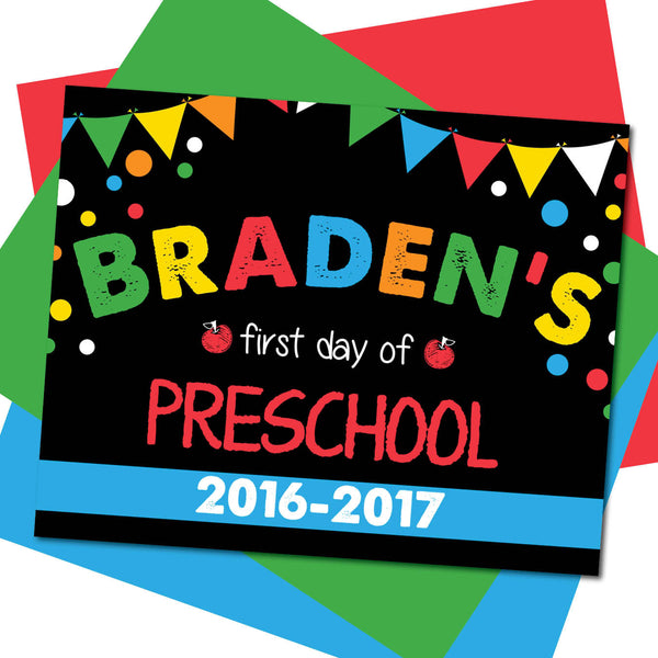 First day of Preschool Sign, Last day of Preschool Sign, Milestone Sign, Back to School Sign, Last day of School Poster, First day of School Poster