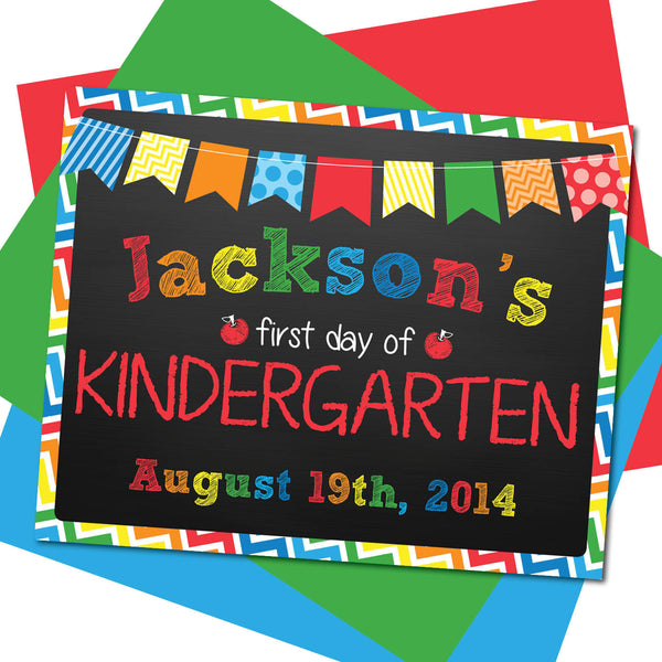 First day of Kindergarten Sign, Last day of Kindergarten Sign, Milestone Sign, Back to School Sign, Last day of School Poster, First day of School Poster.