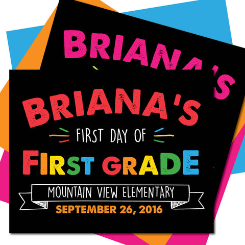First day of First Grade Sign, Last day of First Grade Sign, Milestone Sign, Back to School Sign, Last day of School Poster, First day of School Poster.