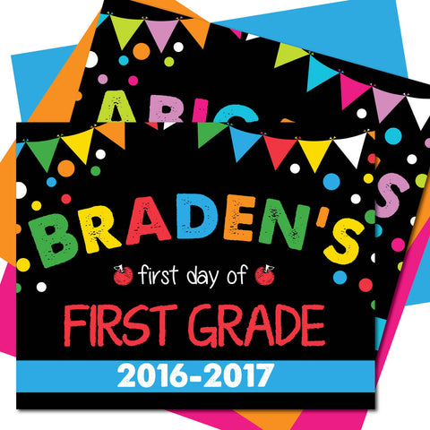 First day of First Grade Sign, Last day of First Grade Sign, Milestone Sign, Back to School Sign, Last day of School Poster, First day of School Poster