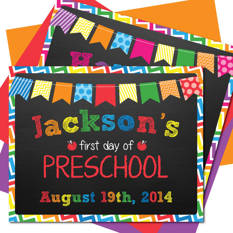 First day of Preschool Sign, Last day of Preschool Sign, Milestone Sign, Back to School Sign, Last day of School Poster, First day of School Poster.