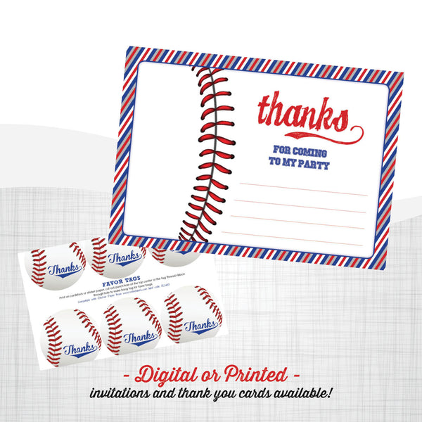 Baseball Birthday Invitation - AbbyReese Design