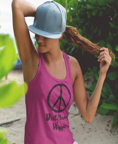 Dirty Young Hippie Flowy Tank Racerback