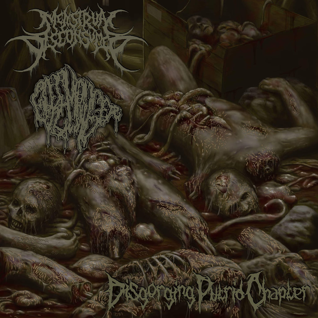 MENSTRUAL DISCONSUMED / GOREMONGER Split CD - will be officially distributed by RCR!