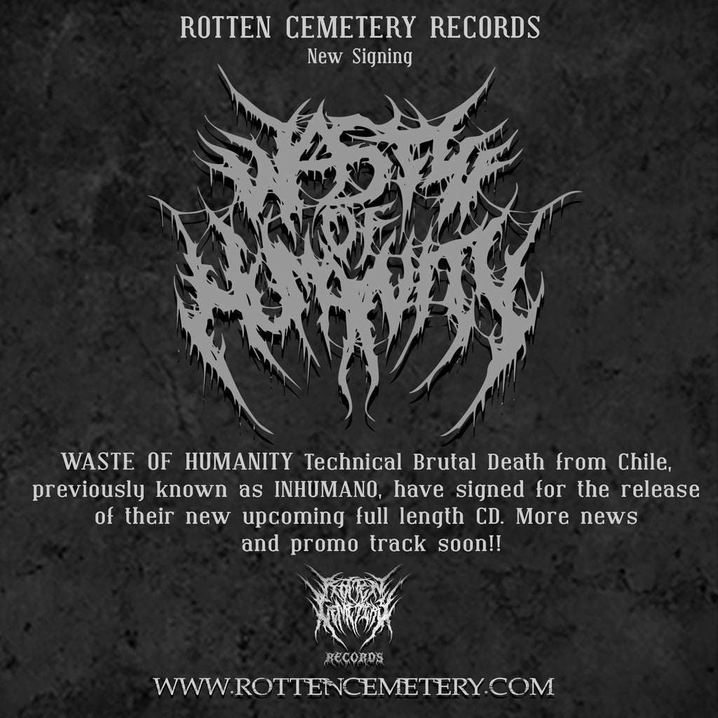 "WASTE OF HUMANITY  ""Push The Weak Around"" to be released on RCR!"