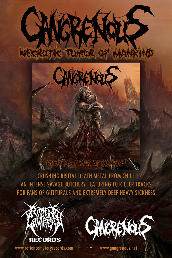 "Gangrenous ""Necrotic Tumour Of Mankind"" Coming on November"