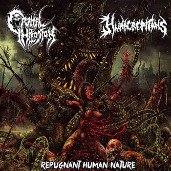 HURA CREPITANS / CRANIAL IMPLOSION - Split CD OUT NOW on Putrid Tomb Records!!