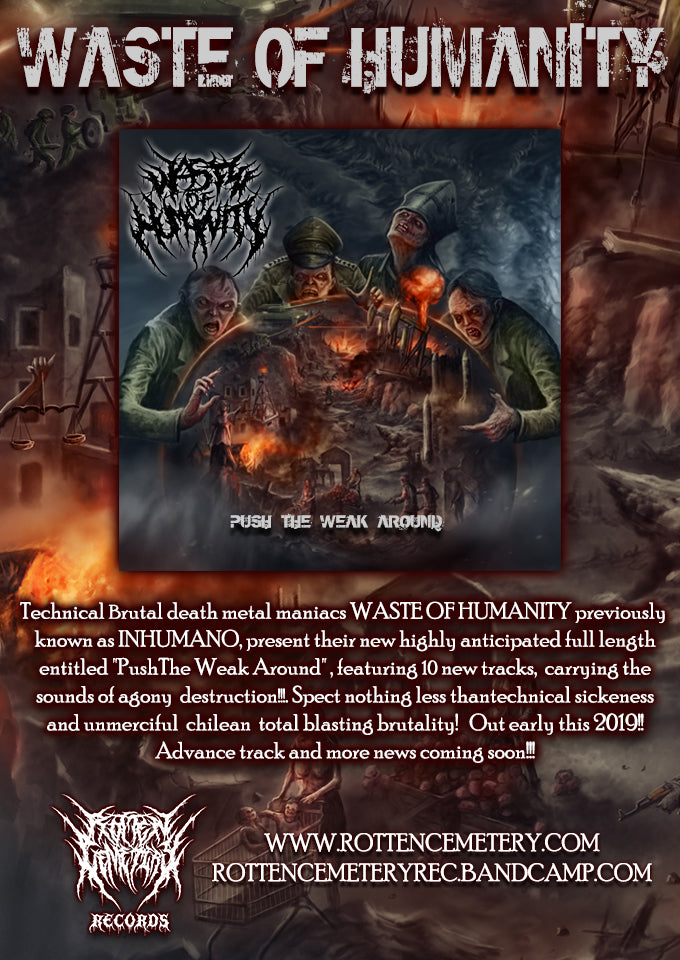 WASTE OF HUMANITY new advance track streaming now!