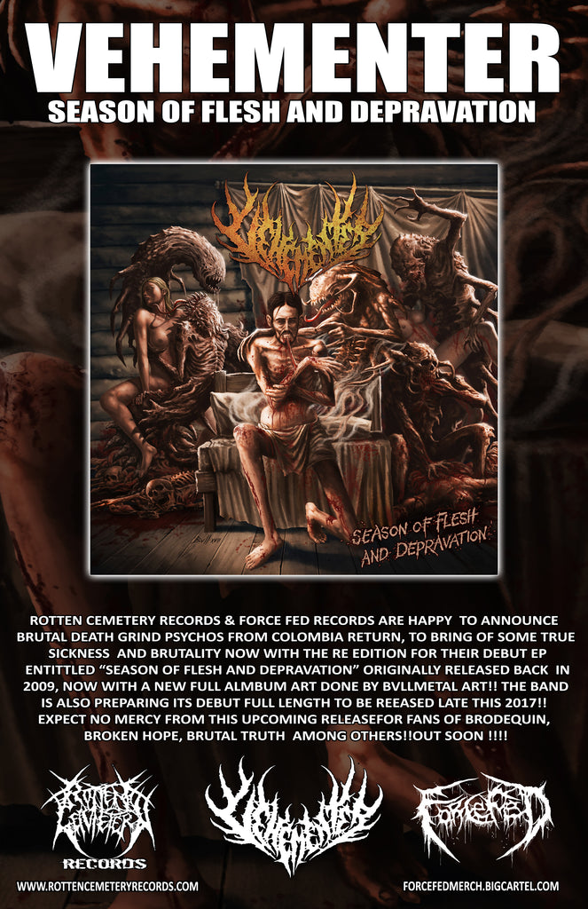 "Vehementer ""Season of Flesh and Depravation"" album art revealed!!!"