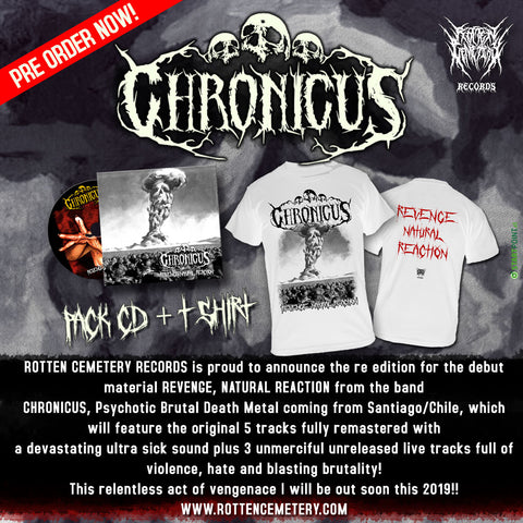 "Chronicus ""Revenge, Natural Reaction"" COMBO PACK PRE ORDER"