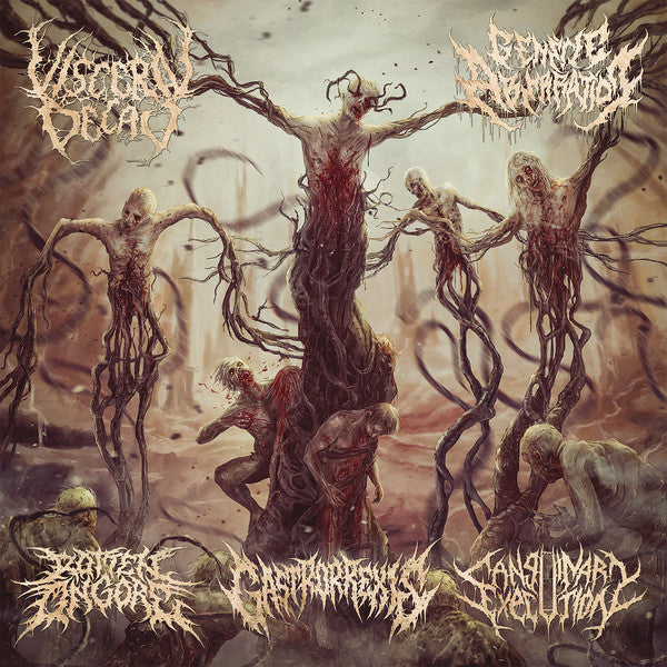 Rotten On Gore, Visceral Decay, Sanguinary Execution, Gastrorrexis, Genetic Aberration ‎– Sutured Bleeding Wounds SPLIT CD