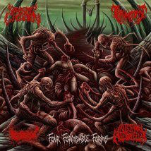 Parasitic Ejaculation / Traumatomy / Gorepot / Intestinal Alien Reflux ‎– Four Formidable Forms -  Split CD