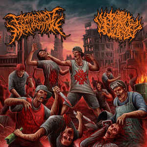 Fermented Masturbation, Pit of Toxic Slime ‎– Misanthropic Urban Disease SPLIT CD