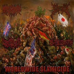 Crepitation / Splattered / Gorevent / Stillbirth (5) ‎– Worldwide Slamicide SPLIT CD