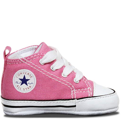 88871 Chuck Taylor First Star Infant High Top Pink by Converse 1 PINK