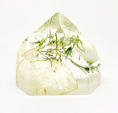 Lunaria & Green Flora Crystal - Medium