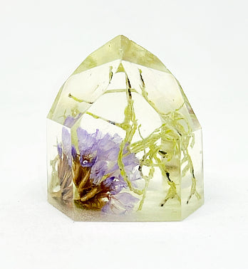 Lichen & Purple Flora Crystal - Small