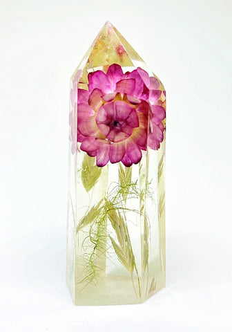 Pink Meadows Flora Crystal - Large
