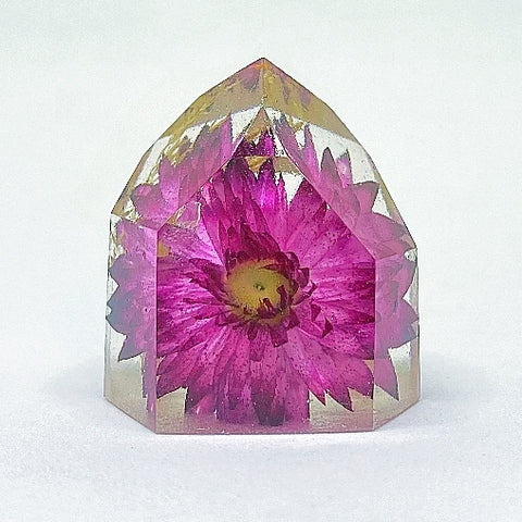 Hot Pink Flora Crystal - Small