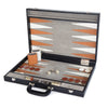 BACKGAMMON GRANDE PRINT ALLIGATOR NEGRO / INTERIOR BLANCO - NUEZ
