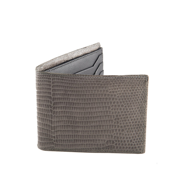 BILLETERA DOBLE GRIS CARBON