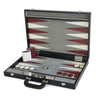 BACKGAMMON GRANDE PRINT LIZARD NEGRO / INTERIOR BLANCO - VINO